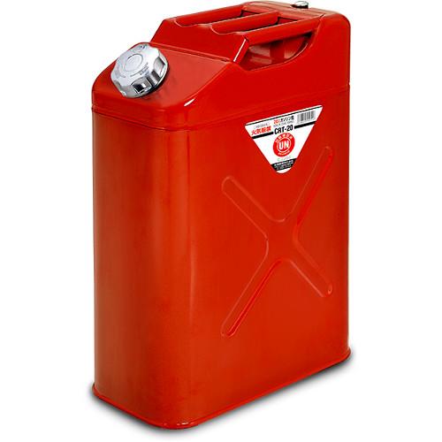 矢澤産業CRT-20ガソリン携行缶 20L レッド色 消防法適合品地域限定(本州・四国・九州)送料無料