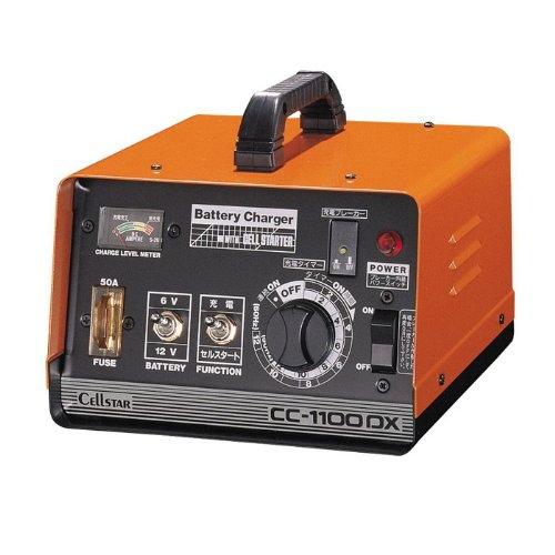 CellSTAR セルスター簡単スピーディー充電バッテリー充電器CC-1100DX安全性と使いやすさのベストバランス[配送区分:小型20kg]