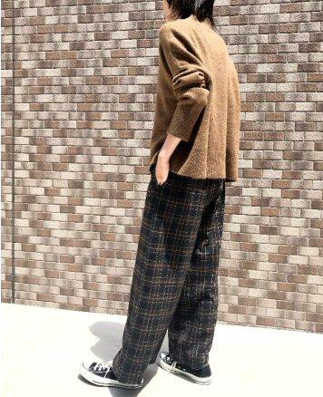 7/31締 発売10/末 数量限定! siro チェックワイドパンツ
