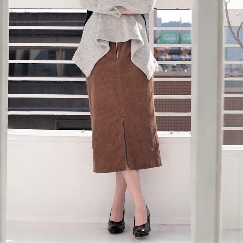 you ozeki コルセットコーデュロイスカート yo18a08 ユウオゼキ タイトスカート Sサイズ Mサイズ コーデュロイ 秋冬 大人カジュアル