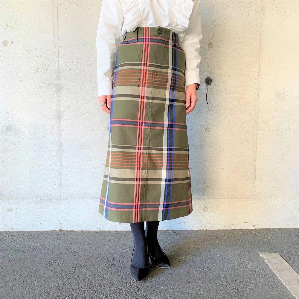near nippon チェックスカート 20826-19 color:check size:36 Sサイズ ニアーニッポン イタリア生地 タイトスカート 大人カジュアル