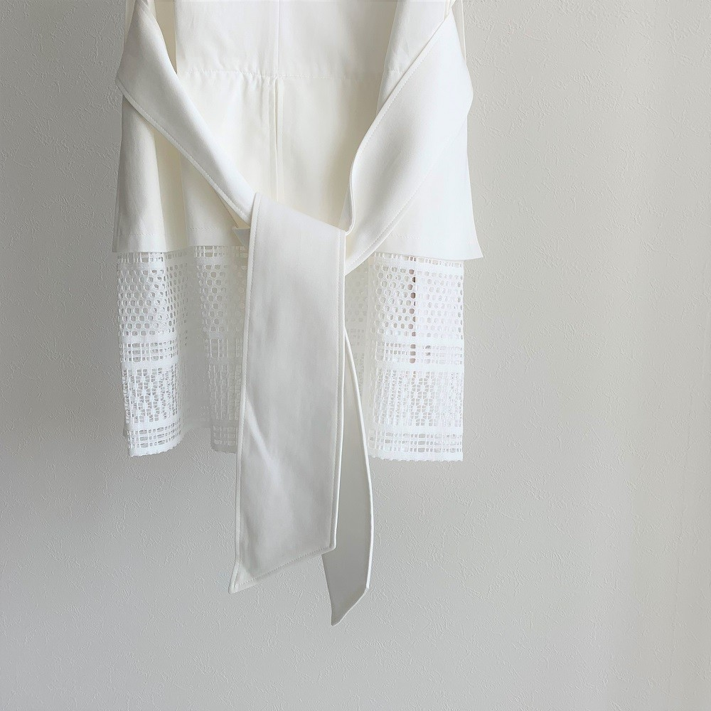 you ozeki レースブラウス yo19s19 white size:F