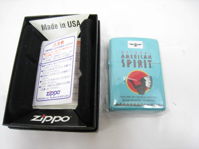 【新品】2004年製 平成16年 Zippo ジッポー AMERICAN SPIRIT アメリカン スピリット スピリッツ オイルライター ブルー インディアン アメリカンスピリット AMERICANSPIRIT