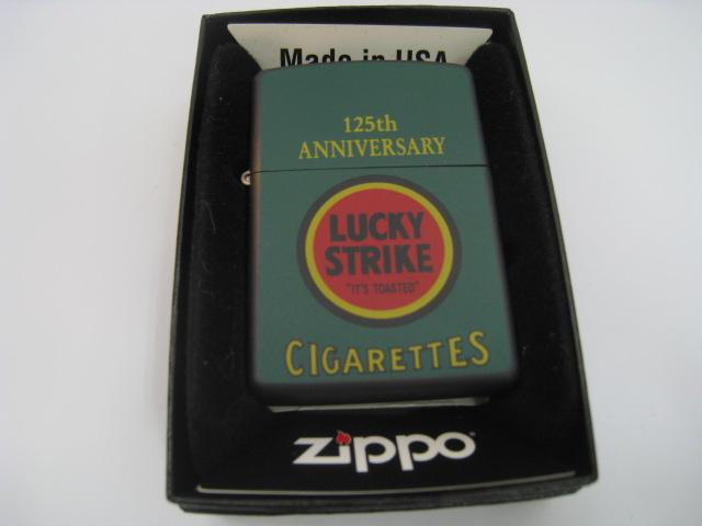 【新品】1997年製 平成9年 Zippo ジッポー LUCKY STRIKE ラッキーストライク125th オイルライター グリーン タバコ 煙草