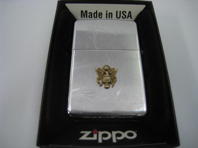 【中古】1966年製 昭和41年 Zippo ジッポー ビンテージ 鏡面 オイルライター シルバー