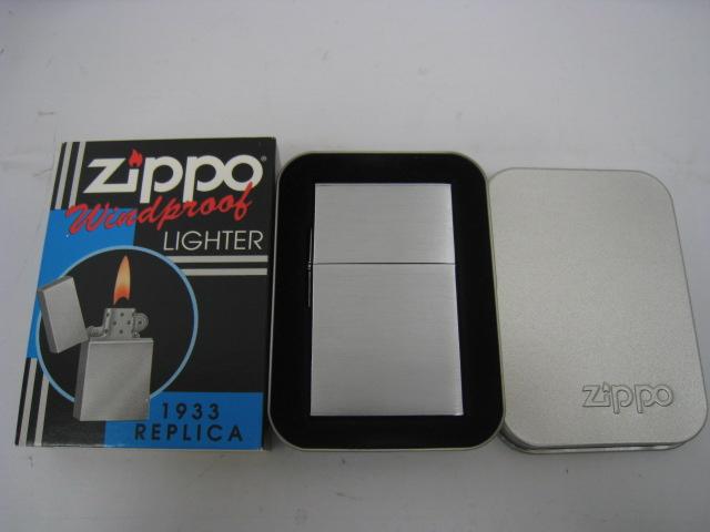 【新品】2000年製 平成12年 Zippo ジッポー 1933レプリカファースト オイルライター シルバー