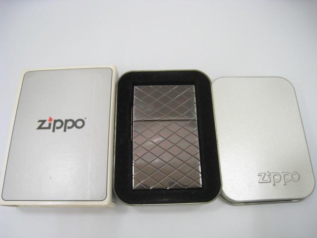 【新品】2000年製 平成12年 Zippo ジッポー 1933レプリカファースト 5面彫 ブラック 格子 オイルライター