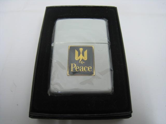 【名入れ無料】 【新品】2000年製 ジッポー 平成12年 ZIPPO ジッポー ピース Peace ピース オイルライター オイルライター JT 日本たばこ ホワイト 白, popo furniture:365e49f4 --- clftranspo.dominiotemporario.com
