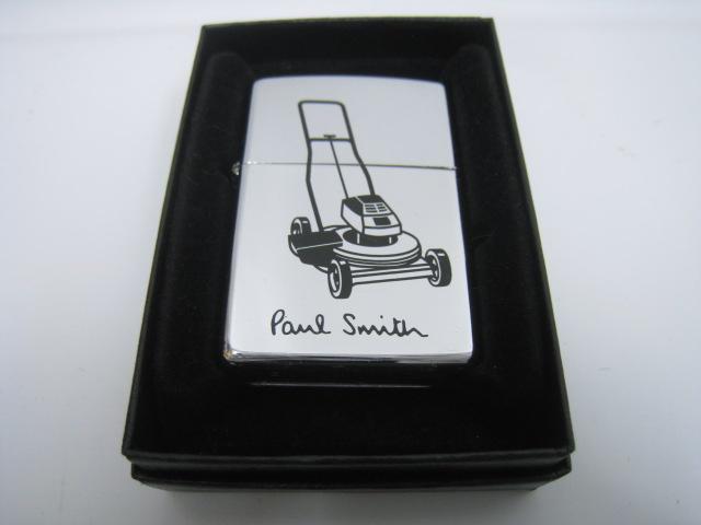 【中古】1998年製 平成10年 Zippo ジッポー Paul Smith ポールスミス 芝刈機 オイルライター シルバー ロゴ