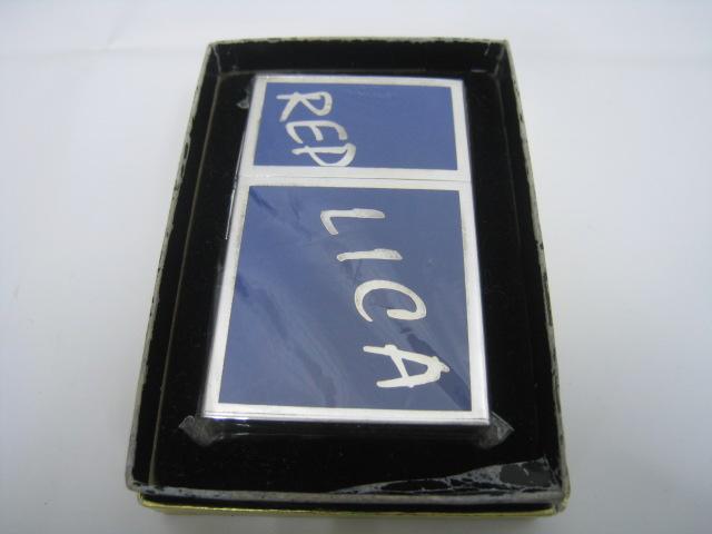 【新品】1999年製 平成11年 Zippo ジッポー REPLICA オリジナル 1933 レプリカ ロゴ オイルライター FIRST RELEASE ファースト 1st ブルー シルバー