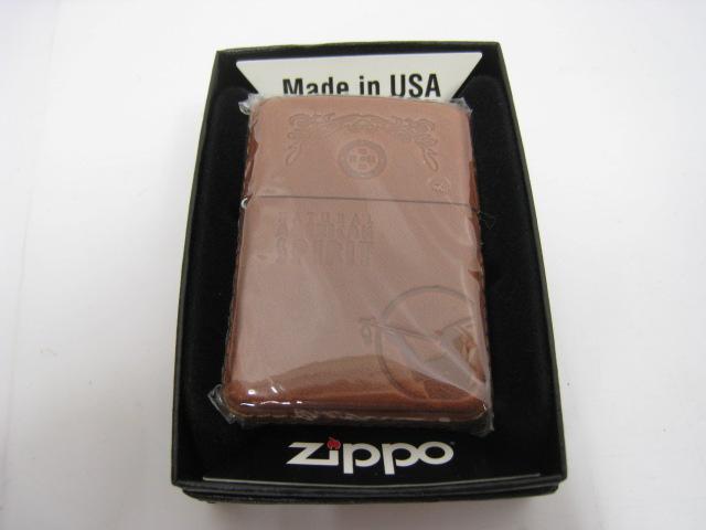 【新品】2004年製 平成16年 Zippo ジッポー AMERICAN SPIRIT アメリカン スピリット スピリッツ オイルライター レザー 革巻き ブラウン インディアン アメリカンスピリット AMERICANSPIRIT
