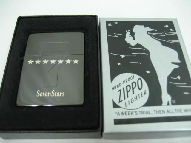 【新品】2007年製 平成19年 ZIPPO ジッポー 1935年レプリカ Seven Stars セブンスター オイルライター ブラック タバコ