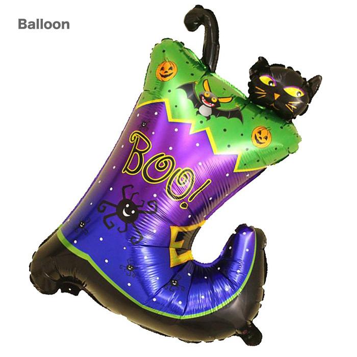 かわいい黒猫のフィルムバルーン 単品 ハロウィンの飾りにピッタリ 黒猫 ハロウィンバルーン 低廉 長靴 ネコ 飾り 大きいサイズ 装飾 ディスプレイ ブーツ !超美品再入荷品質至上! パーティー飾り付け 風船 ハロウィン雑貨 フィルムバルーン