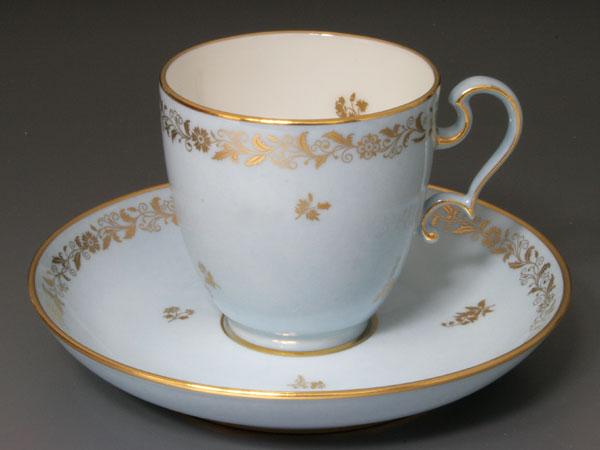 【幻の陶磁器と称されるフランスの国窯セーブル(SEVRES)】アガサブルー(瑪瑙色)コーヒーカップ オボイード145洋食器 直輸入販売