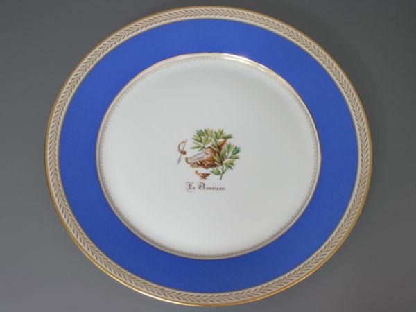 セーブル 飾り皿野生動物 洋食器 陶磁器フランス SEVRES