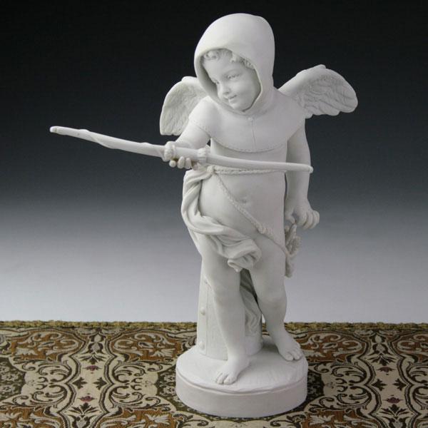 セーブル磁器人形 キューピットのカプチン会修士 白磁フランス SEVRES