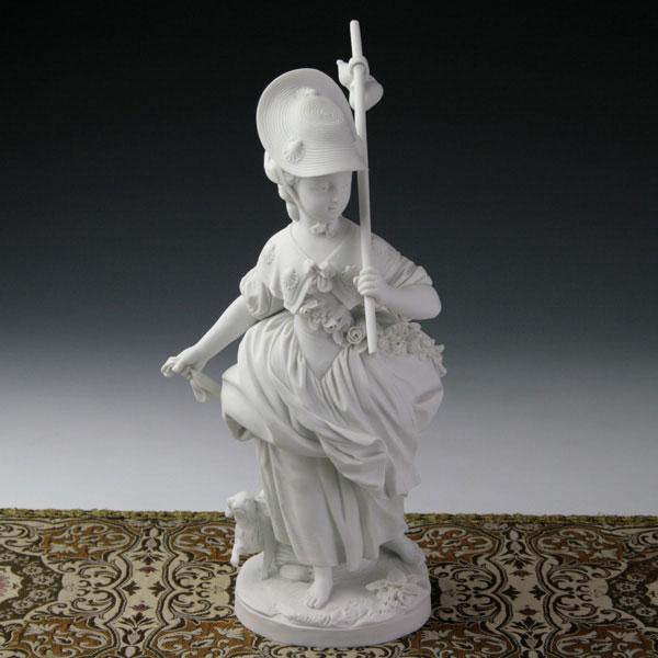 【セーブル】磁器人形 ヴィーナス巡礼 白磁◇フランス SEVRES