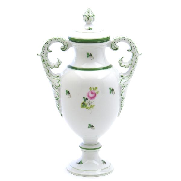 最新作の 陶磁器HEREND ハンガリーヘレンドVRH(ヘレンドのウィーンのバラ)(06492)ファンシーベース(蓋付き飾り壺)洋食器 陶磁器HEREND ハンガリー, メルブック:e29553bf --- doorcountylodging.com