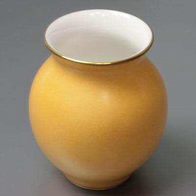 セーブル花瓶 ナーギール南京イエロー陶磁器直輸入販売