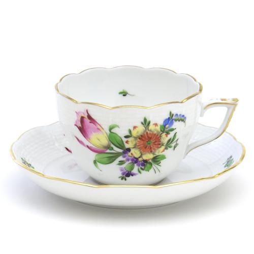 ギフト包装無料 ヘレンドBT-3 チューリップの花束 00730 ティー 受注生産品 陶磁器HEREND コーヒー兼用カップ ソーサーブランド洋食器 ハンガリー お気にいる