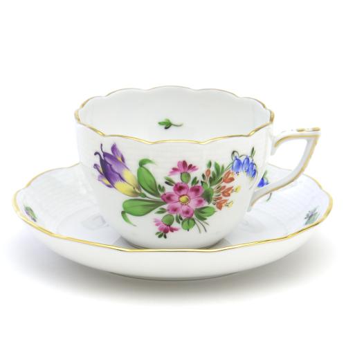 ギフト包装無料 ヘレンドBT-4 チューリップの花束 00730 ティー コーヒー兼用カップ ハンガリー 陶磁器HEREND 豪華な ソーサーブランド洋食器 商い