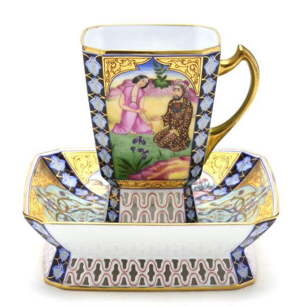 ヘレンドMP(ペルシャの密画) (03184)スクエアコーヒーカップ&ソーサー(120cc)ブランド洋食器 陶磁器HEREND ハンガリー【smtb-TD】【saitama】