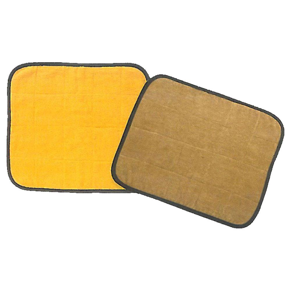 【業務用】一人用サウナマット 41×48.5cm ゴールド&ブラウン 30枚単位