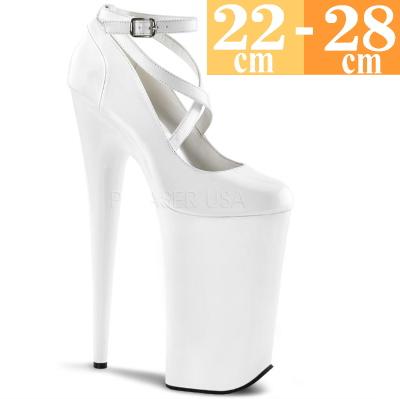 【お取り寄せ品】厚底パンプス 白 【ハイヒール ピンヒール エナメル 大きいサイズ 靴】BEY087WM(type)