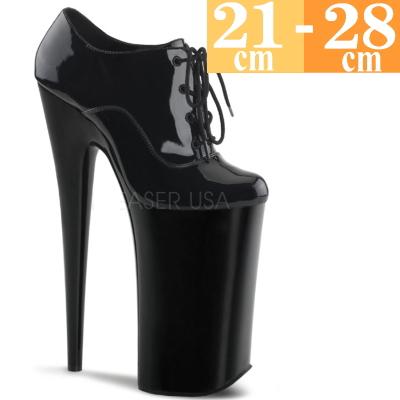 【お取り寄せ品】厚底パンプス 黒 【ハイヒール ピンヒール エナメル 大きいサイズ 靴】BEY060BM(type)