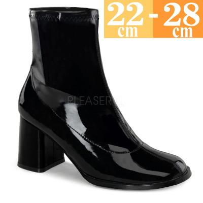 【お取り寄せ品】ショートブーツ 黒  【エナメル レディース 大きいサイズ 靴】GOGO150B (type)