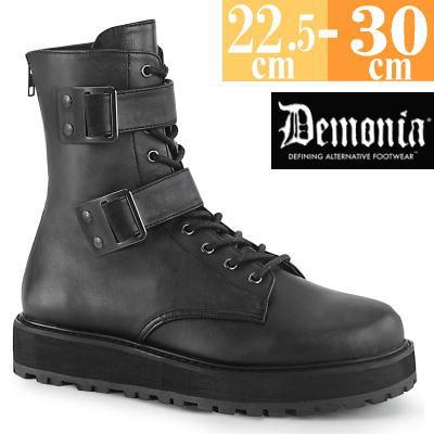【サイズ交換ok】Demonia/デモニア 取寄せ ショートブーツ ブラック 黒 厚底 靴 パンク ゴシック コーデ ファッション レディース シューズ ハイカット スニーカー ユニセックス メンズ 大きい サイズ 原宿系 コスプレ VAL250/BVL
