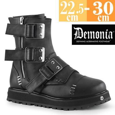 【サイズ交換ok】Demonia/デモニア 取寄せ ショートブーツ ブラック 黒 厚底 靴 パンク ゴシック 原宿系 コーデ ファッション レディース シューズ ユニセックス メンズ 大きい サイズ コスプレ VAL150/BVL