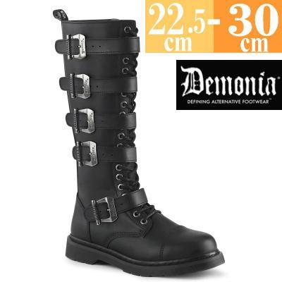 お取り寄せ ロング ブーツ 靴 デモニア BOLT425 BVL サイズ交換ok Demonia 取寄せ ブラック 黒 つや消し 合皮 ファッション ユニセックス 美品 高級な メンズ 大きい シューズ ゴシック コンバットブーツ 原宿系 レディース コーデ コスプレ ミドル丈 パンク サイズ
