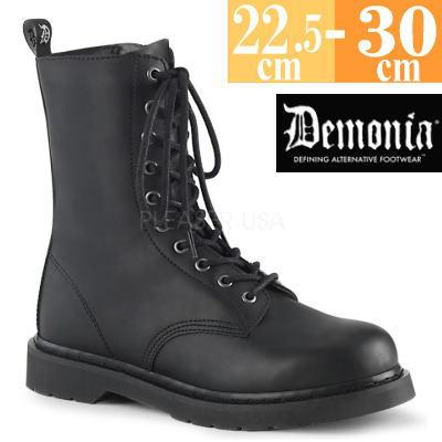 【サイズ交換ok】Demonia/デモニア 取寄せ ロング ブーツ ブラック 黒 つや消し 合皮 靴 ミドル丈 コンバットブーツ パンク ゴシック 原宿系 コーデ ファッション シューズ レディース ユニセックス メンズ 大きい サイズ コスプレ BOLT200/BVL