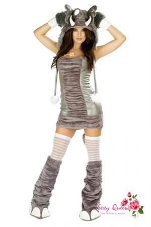 う万圣节性感女子不可能う服装动物动物象象古装戏服装是服装尾巴宴会服装圣诞节忘年会