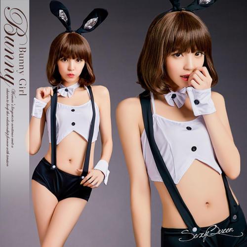 角色扮演兔女郎 cosplay 服装兔子服装万圣节服装性感肖邦工作服黑色和白色的兔子耳朵服装成人事业浮肿和 cos 因为存储白色娱乐不能的女式情趣礼品 _ 包装