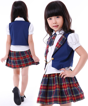 Puffy nipples straining Halloween costumes kids uniform AKB costume kids school uniforms sailor check best skirt uniform and cosplay kids matriculation KIDS princess costumes-costume party anime