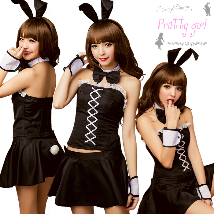 Cosplay Bunny Girl Cosplay Costume Bunny Costume Women Halloween Costumes  Sexy Santa Santa Costume Set Rabbit Ear Rabbit Black And White Adult Causes  Puffy ...