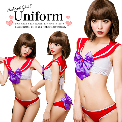Cosplay Sailor Outfit Sexyqueen Anime Sailor Mars High School Girls Ribbon Lingerie Setup Costume Cosplay Costumes Taste Sexy Cause Puffy And Cosplay Cos