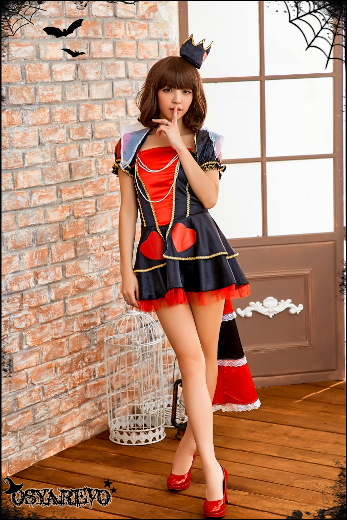 Country Heart Queen Cosplay Maid Costume Adult Sexy Halloween