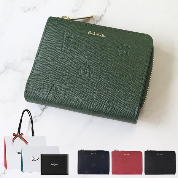 ポールスミス 財布 二つ折り財布 ポールドローイング 小銭入れあり Paul Smith メンズ レディース ブランド 正規品 新品 2019年 ギフト プレゼント PSC954