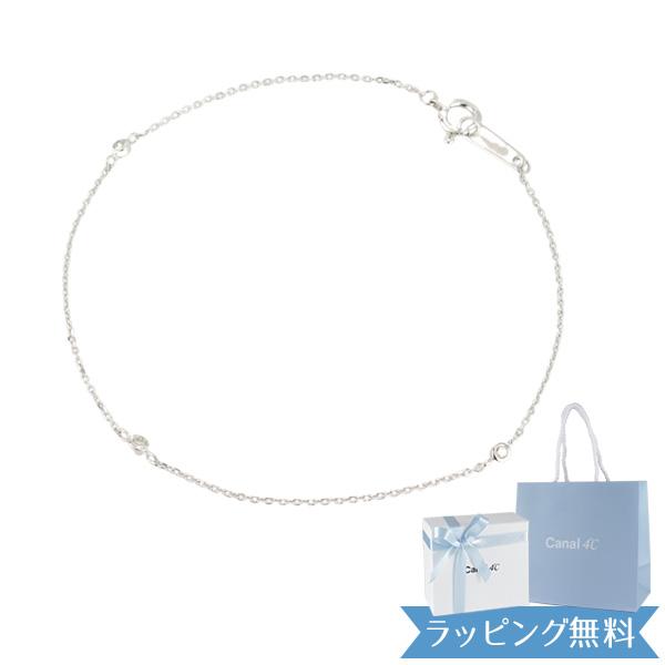 カナル4℃ ヨンドシー ブレスレット レディース シンプル K10ホワイトゴールド ダイヤモンド 151416133202 女性