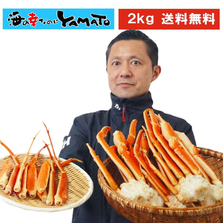 訳あり山盛り特大ボイル本ズワイ蟹脚 2kg カニ かに 蟹 ズワイガニ 脚 特大 ずわいがに 船上凍結 グルメ ずわい 父の日 お中元… 海の幸なのにYAMATO