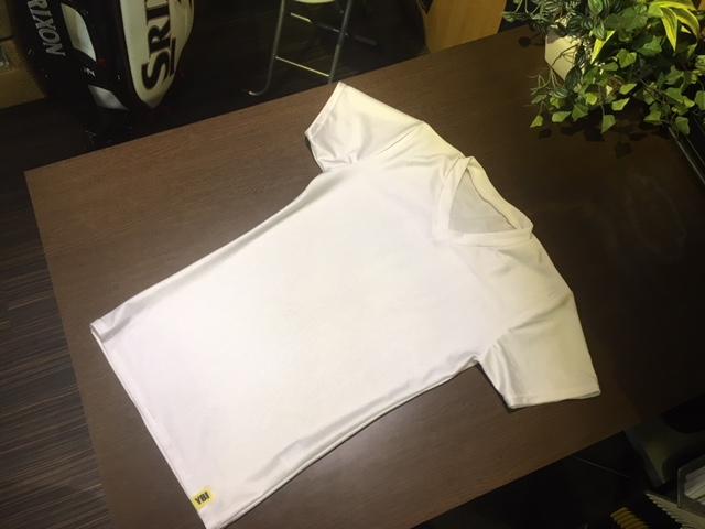 着ているだけで楽々ダイエット待望の新色ホワイトL、YBIのライクラ製VネックTシャツ ND03WH
