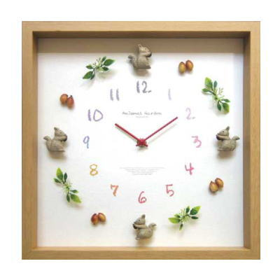 Display Clock Animal【アニマル掛時計】Squirrel 2