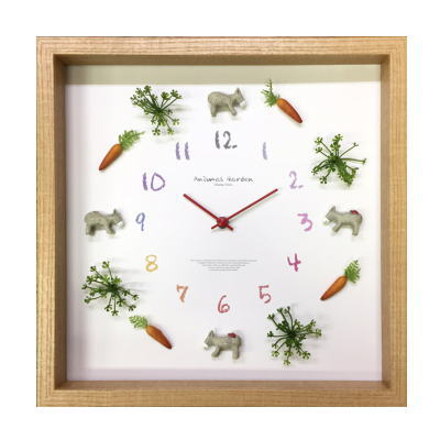Display Clock Animal【アニマル掛時計】Donky 2