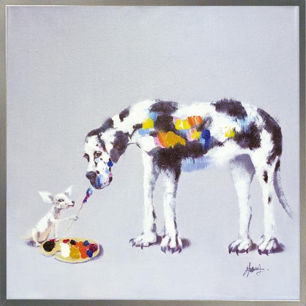 【オイルペイントアート】ドッグペインティング(Lサイズ)
