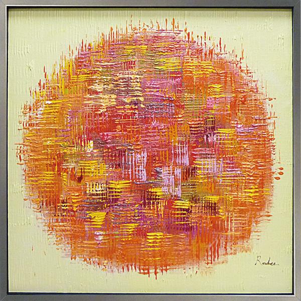 【オイルペイントアート】オレンジボール(Lサイズ)