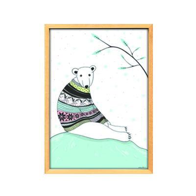 【Scandinavian art】シロクマ/ブルー