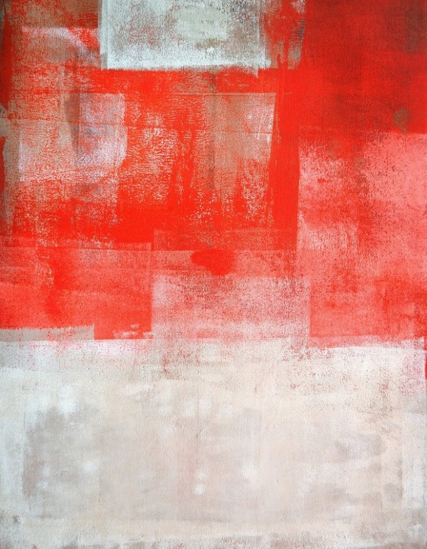 T30 Gallery/Orange and Beige Abstract Art Painting
